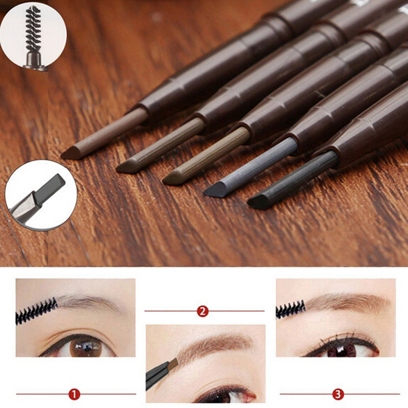 Professional Waterproof Long-lasting Eye Brow Liner Makeup Double Head Eyebrow Pen Brush Makeup Cosmetic Tool NA985