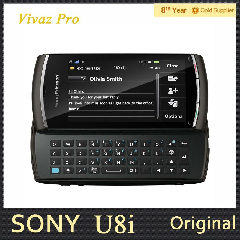 Original Unlocked Sony Ericsson Vivaz Pro U8i U8 Mobile Phone 3.2inch Screen 3G GPS 5MP Refurbished Smartphone Free Shipping(Hong Kong)
