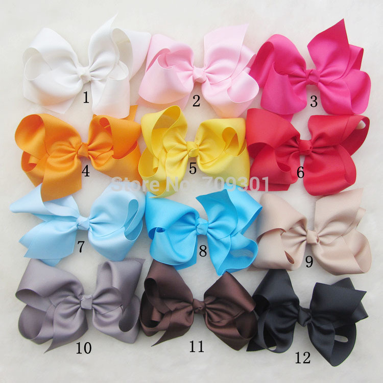 "6""Large Ribbon Hairbows,Large hair bows Baby Girls' Hair Accessories With Clip,Boutique Hair Bows 36pcs/lot(China (Mainland))"