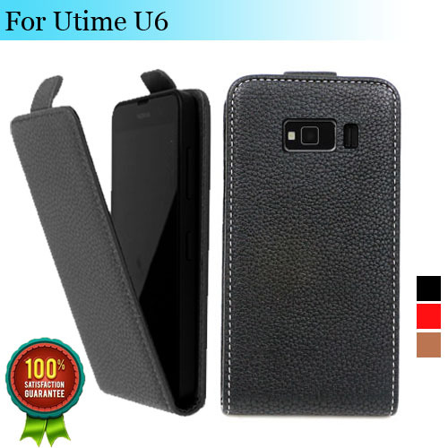 Factory price, Top new style flip PU leather case open Utime U6, gift