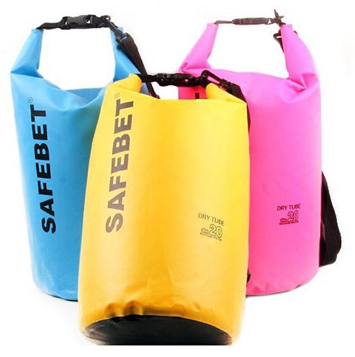 New Portable Outdoor PVC Waterproof Diving Bag Travel Dry bags Rafting bag 5L ,10L ,20L Waterproof Double-Shoulder bag(China (Mainland))
