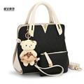 2016 New Fashion Embossing PU woman handbag set Qualities lady tote bolsa zipper rivets Luxury
