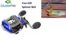 Blue/Black Left/Right Handle Low Profile Baitcasting 10+1 BB Fishing Reel 6.3:1 Bait casting reel, Fishing Tackle.