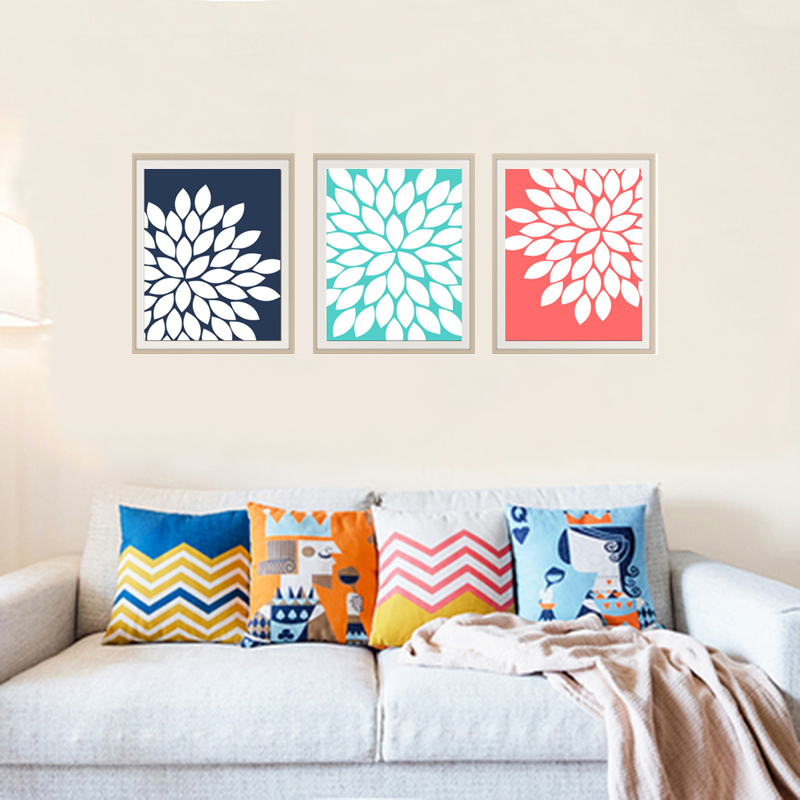 Buy Coral Wall Art Flowers Wall Picture Canvas Prints Cuadr
