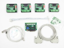 Free Shipping CNC Router Kit 4 Axis, 4pcs 1 axis TB6560 driver +5 axis breakout board