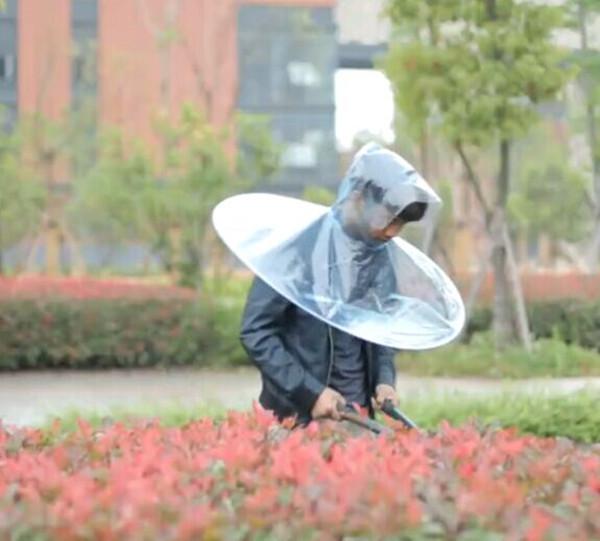 2015 Creative Outdoor Golf Fishing Umbrella Rain Cover Headwear Hat Men Transparent Foldable Hanging Advertising Gift MJ001(China (Mainland))