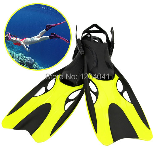 New Adjustable Adult Submersible Long Fins Swimming Snorkel Diving Fins Snorkeling Flippers Submersible Webbed Diving Flippers
