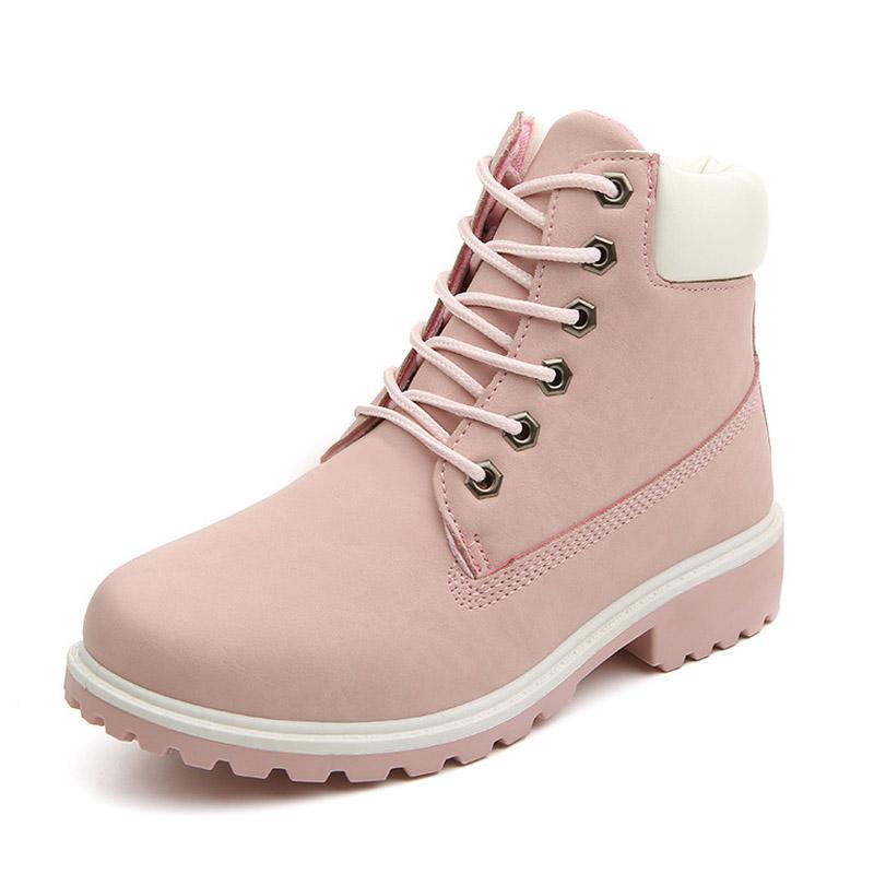 New 2016 Autumn Early Winter Shoes Women Flat Heel Martin Boots Fashion Womenu0026#39;s Boots Brand ...