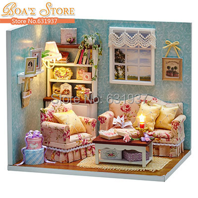 Diy Miniatura Wooden Doll House Furniture Dollhouse Miniature Accessories Puzzle Toy Model Kits Toys Birthday Christmas Gift - BOA 's store