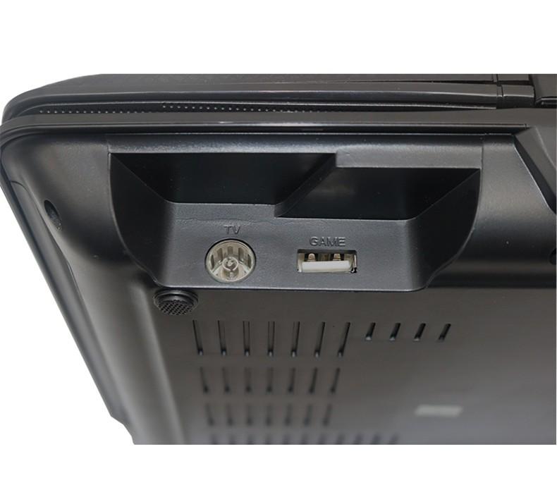 ถูก 10.1นิ้วเครื่องเล่นดีวีดีแบบพกพาTFT LCDหน้าจอดิจิตอลสื่อหลายเครื่องเล่นดีวีดีพร้อมทีวีและฟังก์ชั่นเกมสนับสนุนดีวีดี/CD/MP4