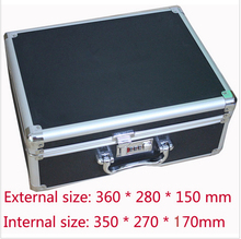 Тактический коробка алюминиевый инструмент чехол магический реквизит для хранения файлов жесткий проведение box инструмент для рук пистолет самоконтрящаяся пистолет 35 * 27 * 14 см