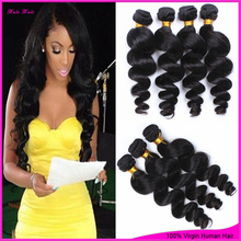 Grace Hair Products 6A Unprocessed Brazilian Loose Wave Virgin Hair 3bundles Sell Brazillian Loose Wave  Virgin Hair Very Soft(China (Mainland))