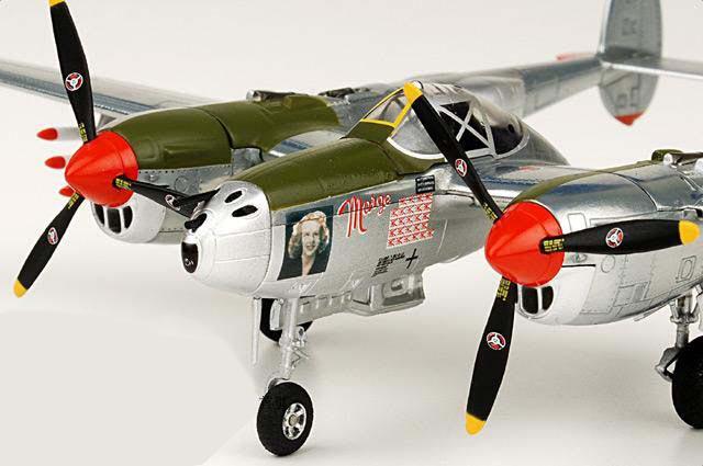 Witty 1:72 World War II United States P-38 Lightning fighter model  P38 Lightning Richard Bong