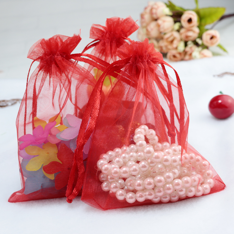 Red Wedding Gift Bags : Red Large Organza Bags 30x40cm, Favor Wedding Gift Packing Bags ...