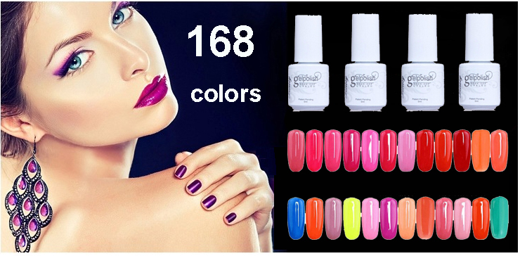 168 Colors UV Nail Gel Polish 30 Days Long Lasting Nail Gel Cheap Soak Off Gel Polish 1 PCS SWJ06(China (Mainland))