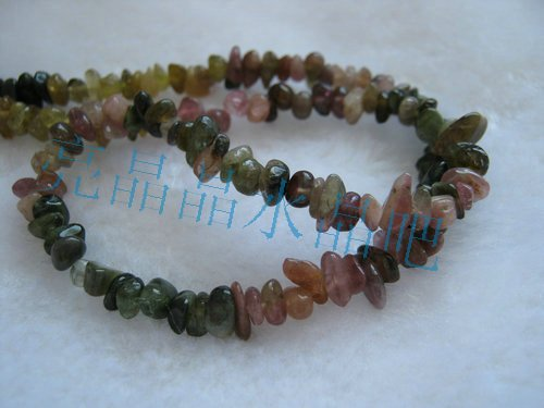 Natural crystal tourmaline gravel semi finished beads earring bracelet necklace mobile phone chain(China (Mainland))
