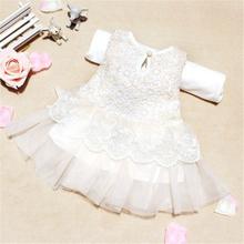 Cute Girls Summer Dress Princess White Baby Lace Cute Dress 3 Colors 0-2Y 1pcs Size XS-L(China (Mainland))
