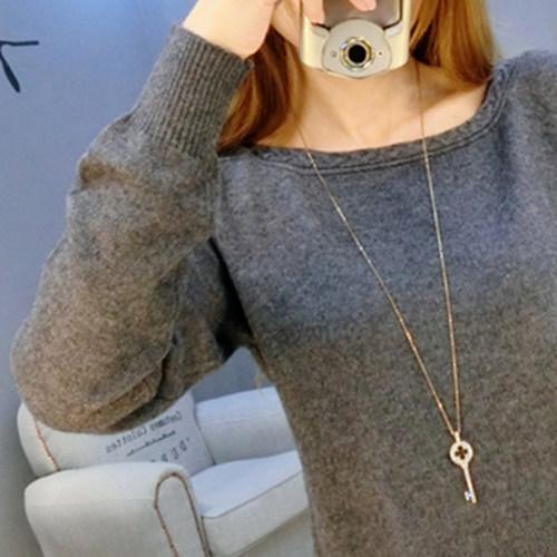 2015 new style sweater pullover sweater women Ms. flat collar sweater warm sweater lady Free Shipping(China (Mainland))