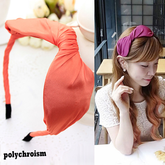 Cloth Wrapped Big Bows Simple Hair Bands Headbands for Girls Headwear Hair Accessories for Women(China (Mainland))