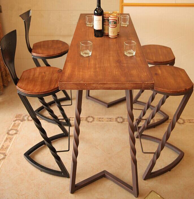 Creativo vendimia país de américa mesa de comedor de madera mesa ...