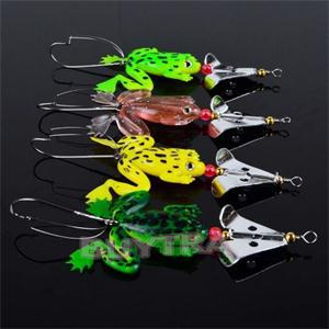 4pcs Rubber Super Snakehead Frog Fishing Lures Bass CrankBait Fishing Hook Tackle 9cm/3.54 <br><br>Aliexpress