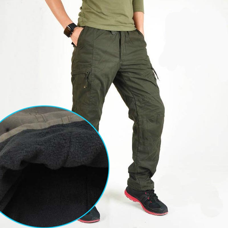 military pants men Fleece Winter outdoor trousers thickening tactical pants cargo training pants mens baggy pants moletom(China (Mainland))