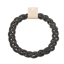 Black twisted metal chunky spiral handmade wide collar choker chain necklace gapore necklace for women collares anchos mujer(China (Mainland))