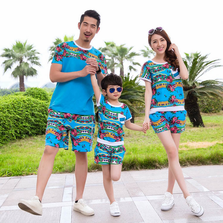 Family-Clothing-Matching-Outfits-Beach-Causal-Mon-Father-and-Son-suits-O-Neck-Cotton-Summer ...