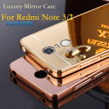 Buy VOONGSON Xiaomi Redmi Note 3 Pro Case Luxury Aluminum Metal Ultra Slim Mirror Acrylic Back Cover Redmi Note 3 2 Cases for $3.53 in AliExpress store