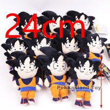 Dragon Ball Son Gohan Piccolo Vegeta Goku Trunks Vegeta Brinquedos de pelúcia 10 pçs/lote(China)