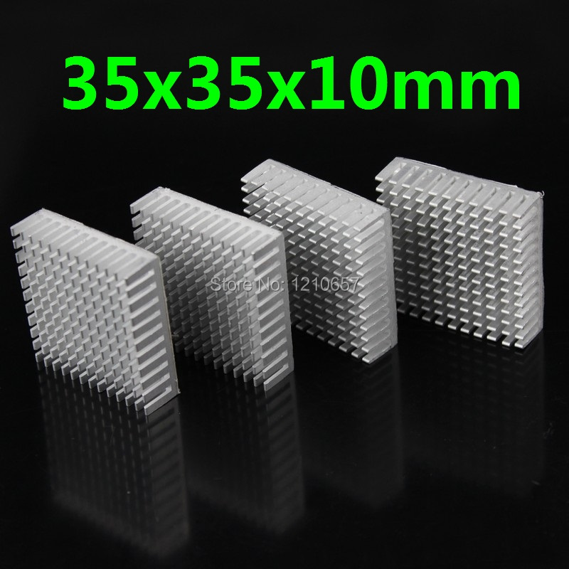 5 pieces lot 35x35x10mm Aluminum Heat Sink For Electronic Computer<br><br>Aliexpress