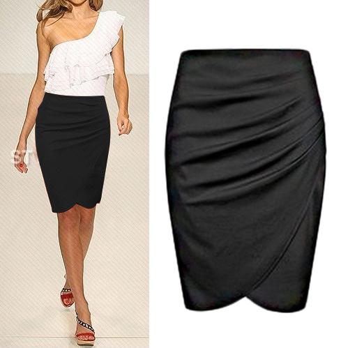 2015 summer faldas women skirts womens high waist skirt maxi casual solid mini blue pencil skirts for women K8601(China (Mainland))