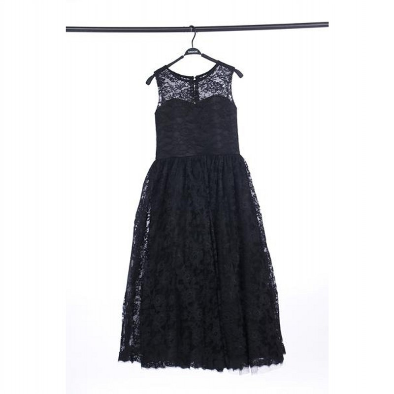 Real Image Black Lace Flower Girl Dresses High Quality
