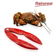 Bairun aluminium alloy New Quick crab clip+2pcs needle seafood tools set  Sheller  food tool free shipping(China (Mainland))
