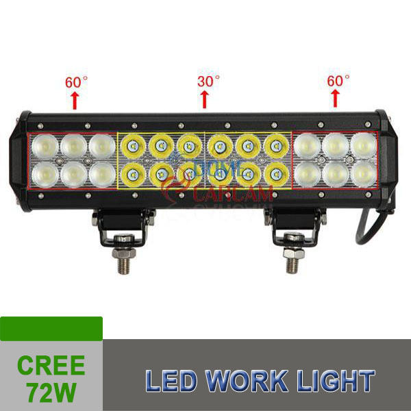 New Products 72W CREE Led Light Bar Lamp Tractor Boat Off-Road 4WD12v 24v Truck SUV ATV Spot Flood Racing Car Accessories(China (Mainland))