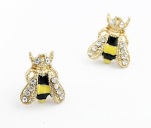 New Sweet Cute Animal Jewelry Bee Earrings For Women Pendientes Brinco Aros Cheap Free Shipping P15