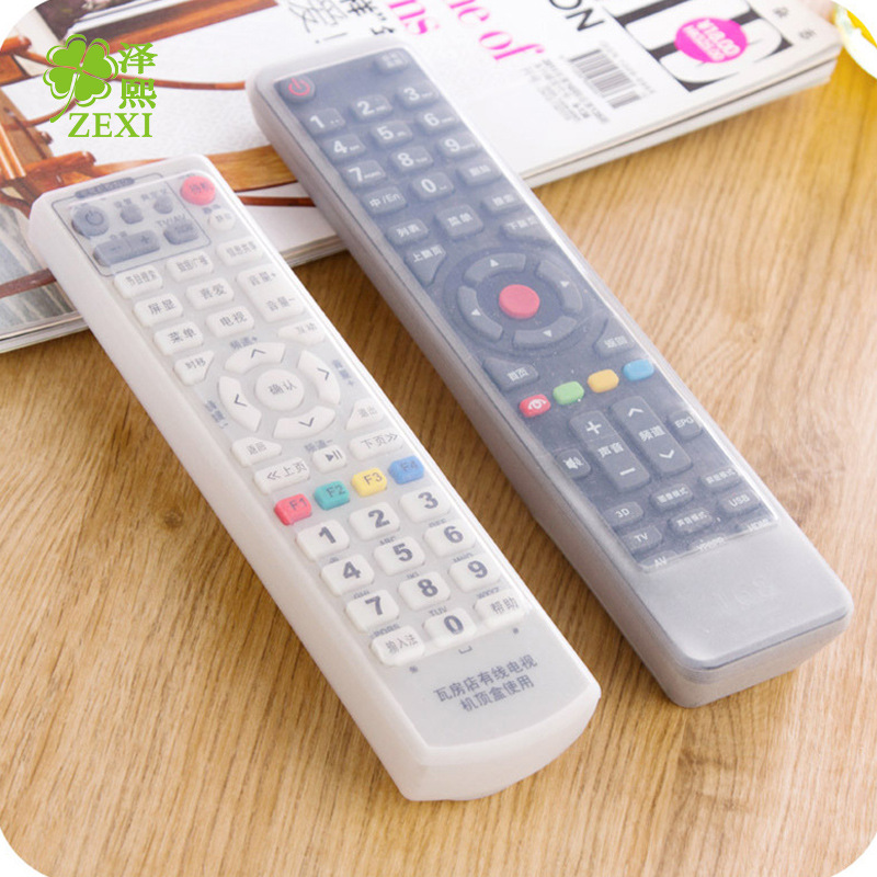 500PCS Dust Storage Boxes Transparent Silicone TV Remote Control Cover Protective Holder Bags Home Supplies(China (Mainland))