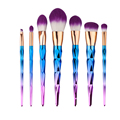 7pcs Brush Makeup Brushes Set Maquiagem Brochas Pinceis Rhinestone Colorful Cosmetic Makeup Brushes for Eyebrows Eyelashes