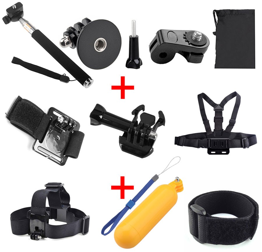 For GoPro Accessories Set Kit Chest Head Strap Floating