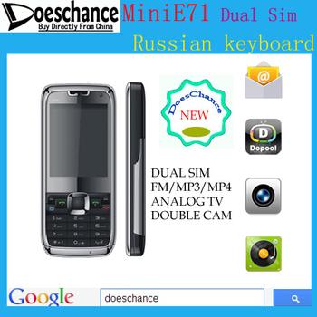 Russian Menu & Russian keyboard mini E71 TV Mobile Phone (Russian Only)