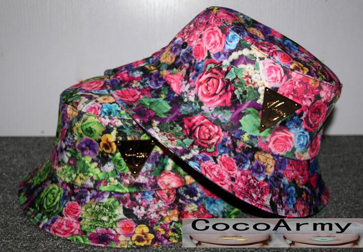 2015 summer style floral bucket hats,women`s beach caps,men hats hip hop free shipping cheap boys bucket hat,fishing cap man(China (Mainland))