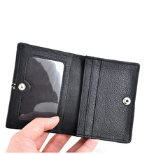100 First Layer of Cowhide Genuine Leather 2015 New Men s Business Credit ID Card Case