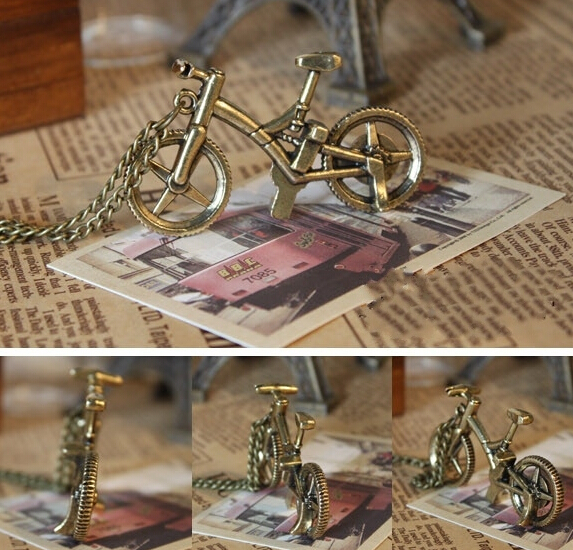 10pcs Hot sale Whole jewelry lots fashion cool Retro pretty bicycle Necklace free shipping LB171 birthday gift(China (Mainland))
