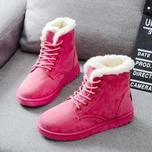 Kobiet Buty Ciepłe Buty Zimowe Kobiet Mody Kobiet Buty Faux Suede Botki Dla Kobiet Botas Mujer Pluszowe Wkładka Śnieg buty(China)