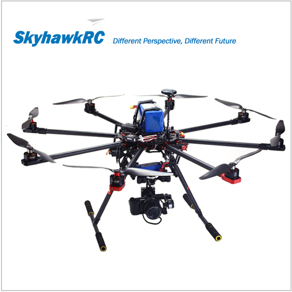 SkyhawkRC F900 RC Carbon fiber Octocopter frame kit with retractable skid FPV drone camera aerial photography multicopter model(China (Mainland))