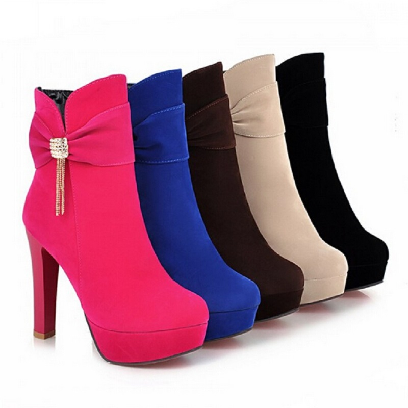 Popular  Heels Ankle Boots Booties Shoes Ankle Heeled Ankle Boots Cute Shoes