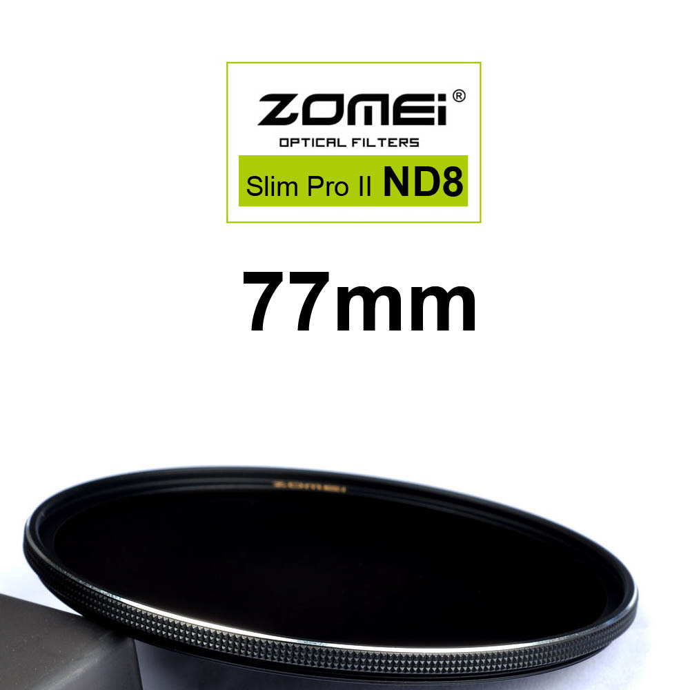 Zomei 77mm Ultra Slim ND8 ND0.9 8X 3 Stop Exposure Sliver Rimmed Glass Neutral Density ND Filter for Canon Nikon Sony lens 77 mm(China (Mainland))