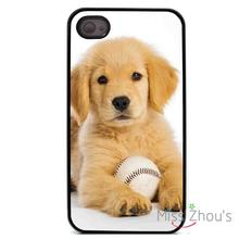 Golden Retriever Dog Pet back skins mobile cellphone cases for iphone 4/4s 5/5s 5c SE 6/6s plus ipod touch 4/5/6