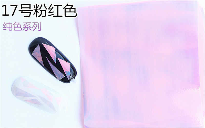 10cm explosion models Symphony irregular broken glass nail stickers nail Aurora platinum paper mirror glass paper1