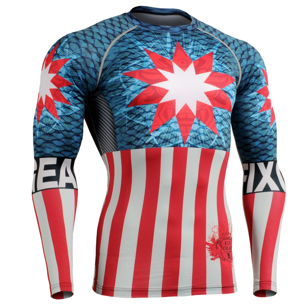 CROSSFIT Mens Fitness Clothing Long Sleeve Tee Compression Shirt Workout T-shirts Sports Gym Training Tops MMA Yoga exercise<br><br>Aliexpress